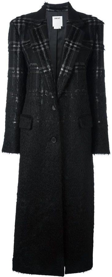 DKNYDKNY long checked coat