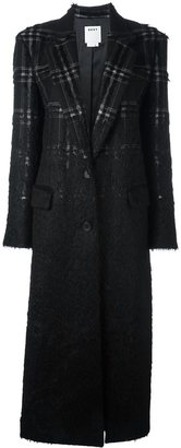 DKNY long checked coat $2,333 thestylecure.com