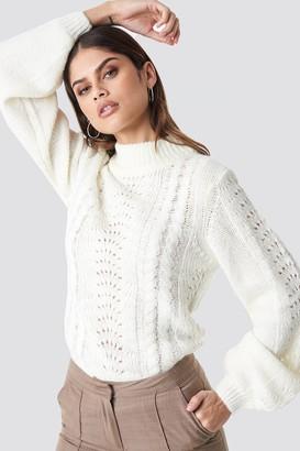 Rut & Circle Rut&Circle Hole Knit Pullover Lavender