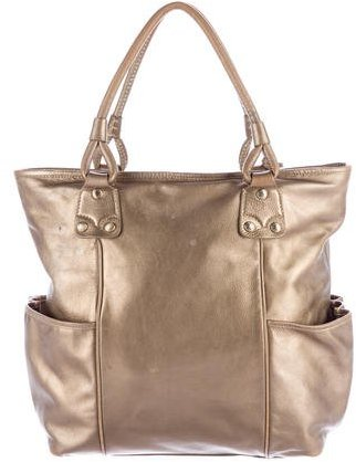Burberry  Burberry Metallic Leather Tote