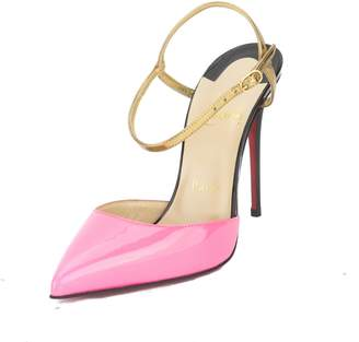 Christian Louboutin Pink Patent Leather Rivierina Pump, Size 36 (New with Tags)