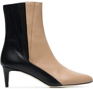 Atelier Atp beige and black nila 55 leather boots