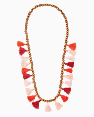 Tiki Pom Tassel Necklace $15 thestylecure.com