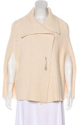 See by Chloe Wool Cable Knit Cape
