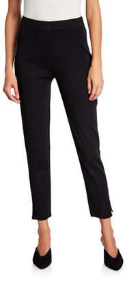 Misook Knit Ankle-Zip Leggings
