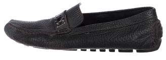 Louis Vuitton Pebble Leather Driving Loafers