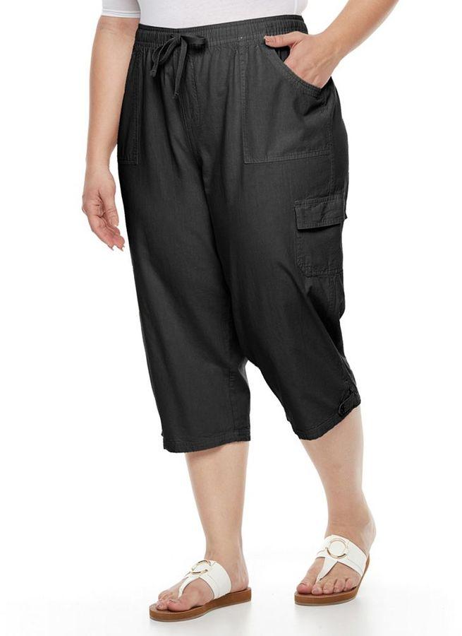 Gloria Vanderbilt Plus Size Tatiana Cargo Capris - ShopStyle Pants