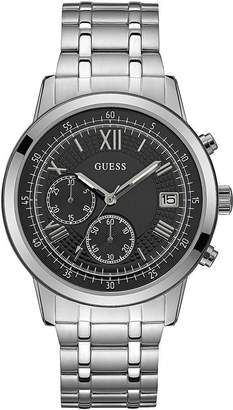 GUESS Men's SUMMIT 44mm Steel Bracelet & Case Quartz Dial Watch W1001G4