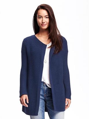 Relaxed Open-Front Textured Cardi for Women $49.94 thestylecure.com