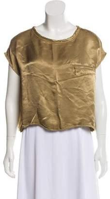 Celine Oversize Short Sleeveless Top