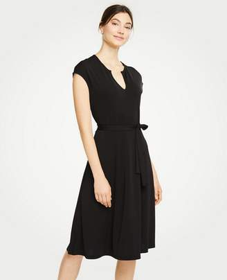 Ann Taylor Petite Belted Flare Dress