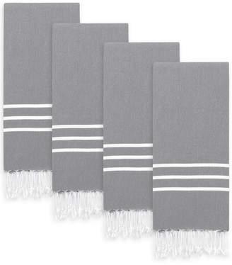 Linum Home Textiles Set Of 4 Alara Turkish Pestemal Hand/Guest Towels