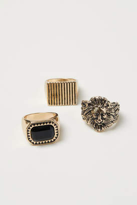 H&M 3-pack Rings - Gold