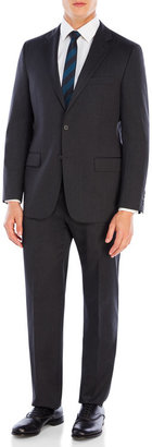 hickey freeman Charcoal Wool Suit $1,495 thestylecure.com