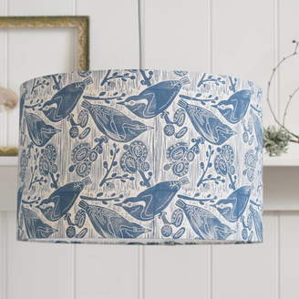 Steve Madden hannah Nuthatches And Willow Lampshade Block Printed By Hand
