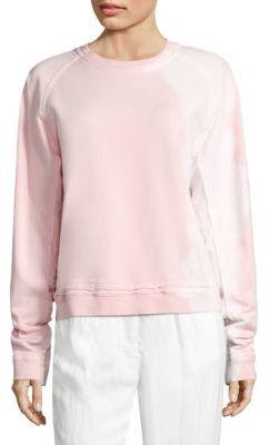Haider Ackermann Cotton Long Sleeve Sweatshirt $648 thestylecure.com