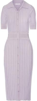Olivia Ribbed Stretch-knit Dress - Lilac