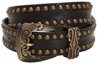 Alberta Ferretti Studded Leather Belt