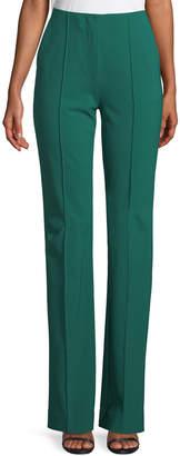 Diane von Furstenberg Woven Wool-Stretch Pleated Pants