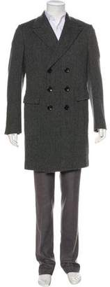 Tom Ford Double Breasted Wool & Alpaca Overcoat