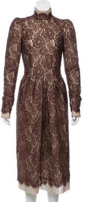Dolce & Gabbana Lace Midi Dress w/ Tags