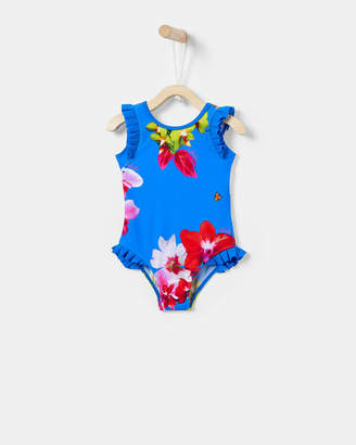 Ted Baker GELLIE Frill floral swimsuit