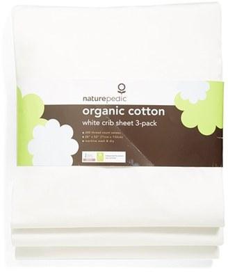 Naturepedic 300 Thread Count Organic Cotton Crib Sheet $79 thestylecure.com