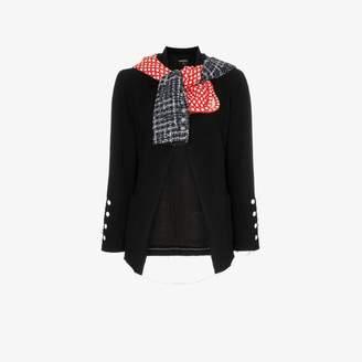 Chanel Tiger In The Rain Reworked Vintage Tweed Scarf Blazer