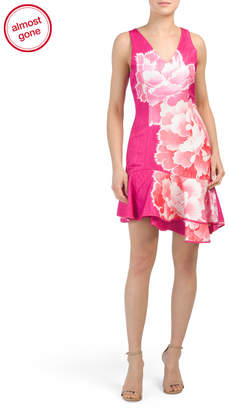 Josie Natori Ruffle Hem Dress