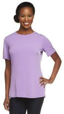 Susan Graver Essentials Liquid Knit Short Sleeve Top