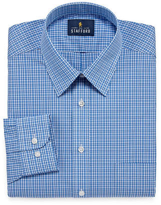 STAFFORD Stafford Travel Performance Super Shirt Long Sleeve Broadcloth Plaid Dress Shirt