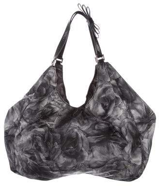 Valentino Leather-Trimmed Floral Tote