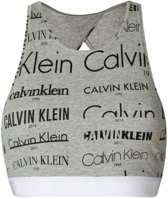Calvin Klein logo-print bralette