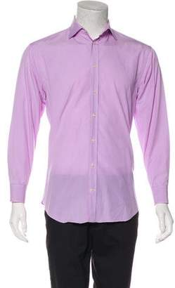 Armani Collezioni Striped Spread Collar Shirt