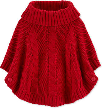 Carter's Carter Toddler Girls Sparkly Poncho Sweater