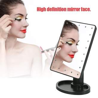 Yosoo Cosmetic Mirror,22 LED Lights Vanity Makeup Mirror 10X Magnification Rotatable Tabletop Cosmetic Mirror With Touch Screen Lighted