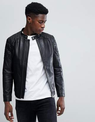 Selected Leather Racer Jacket