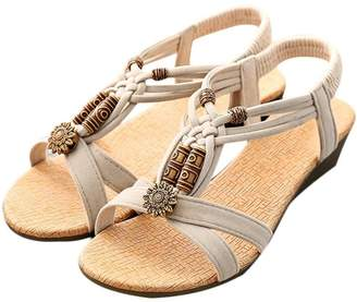327e5f4c3d71 PeepToe XILALU Women s Casual Peep-Toe Flat Buckle Shoes Roman Summer  Sandals