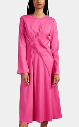 Sies Marjan Women's Janet Pintuck-Pleated Crepe Shift Dress - Pink
