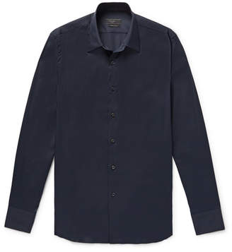 Prada Slim-Fit Stretch Cotton-Blend Poplin Shirt