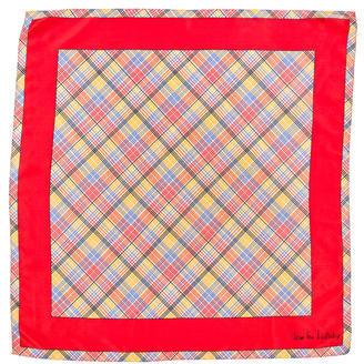 Diane von Furstenberg Plaid Silk Scarf $65 thestylecure.com