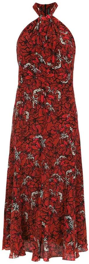 Andrea Marques printed silk dress