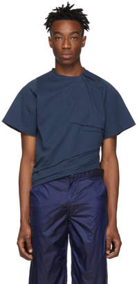 E.m. Bianca Saunders Blue Pull Up On T-Shirt