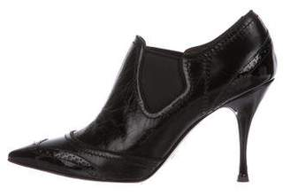 Dolce & Gabbana Leather Ankle Booties