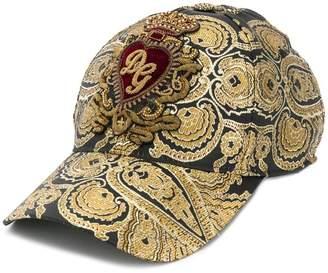 f3203c0d Dolce & Gabbana brocade print baseball cap