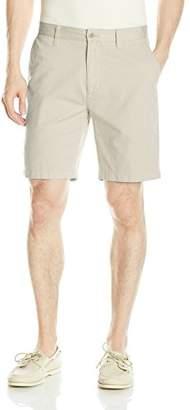 Nautica Men's Cotton Twill Flat Front Chino Deck Short