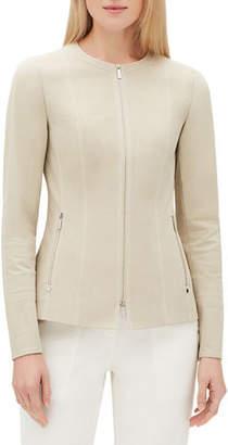 Lafayette 148 New York Janella Long-Sleeve Zip-Front Fundamental Bi-Stretch Jacket