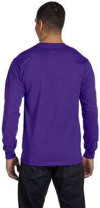 Hanes by Adult Beefy-T Long-Sleeve T-Shirt__L