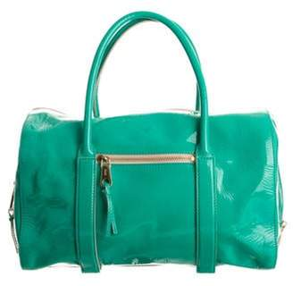 Chloé Madeleine Patent-leather Duffle Bag Teal Chloé Madeleine Patent-leather Duffle Bag