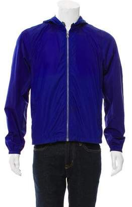 Prada Hooded Windbreaker Jacket